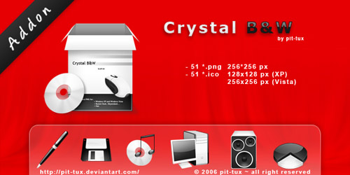Crystal bw addon free icons download