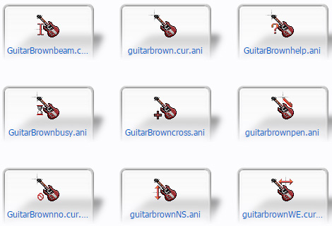 Angus Young Gibson SG mouse pointers