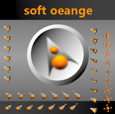 Soft Orange computer mouse pointers free download