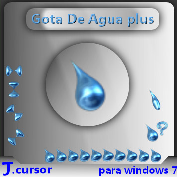 3D Agua mouse pointers download