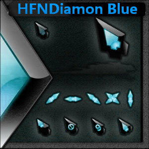 HFNDiamon Blue 3D mouse pointers