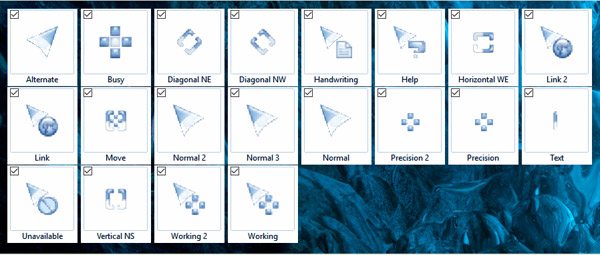 Blue and White mouse cursors