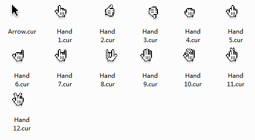 Mac OS X: Different Kinds of Hands Cursors