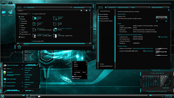 HUD Evolution Turquoise for Windows 10 TH2