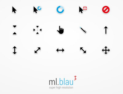 ml.blau.3 FOR mouse cursors