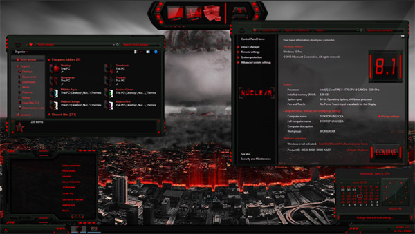 Nuclear Theme Pack for Windows 10