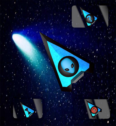Blue Alien for mouse cursors