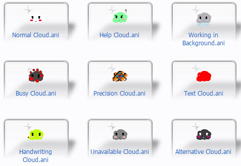 Cute Cloud Collection Cursors