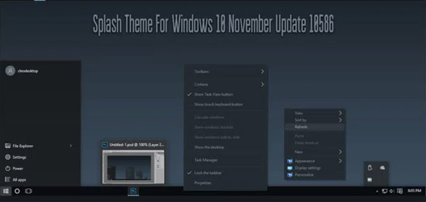 Splash Theme for Win10 free download