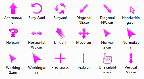 Pinkiest Mouse Cursors