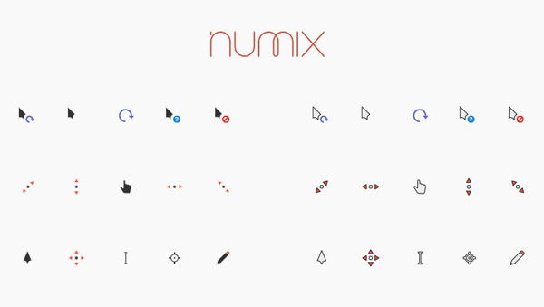 Numix mouse pointers