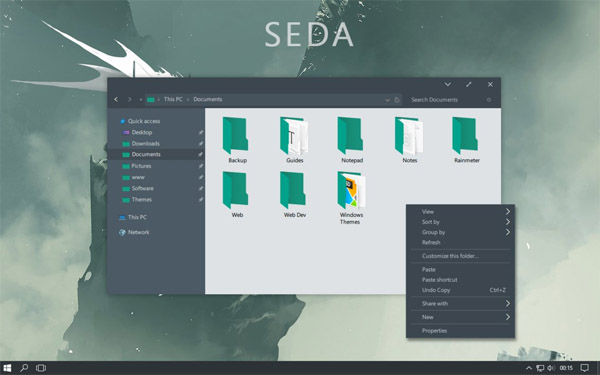 SEDA Theme for Windows 10 download