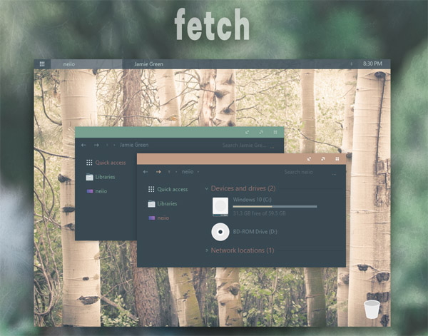 Fetch theme for windows 10 download