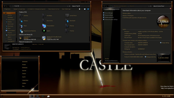 Castle V2 for Windows 10 Anniversary Update RS1