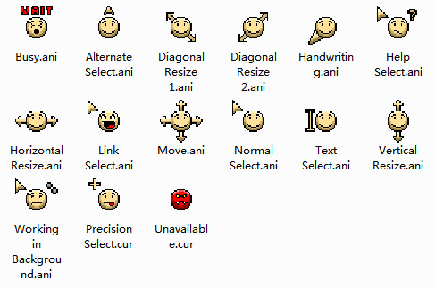 Cute Smiley Mouse Cursors