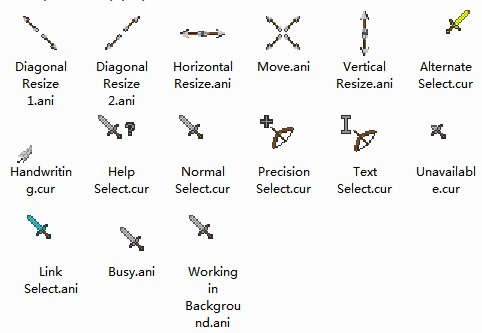 Minecraft V2 Mouse Cursors