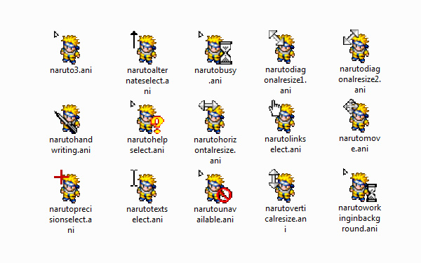 Cute Naruto Mouse cursors