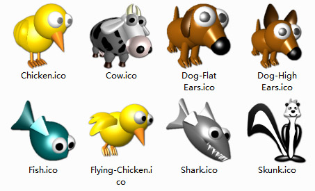 3D Animals computer icons