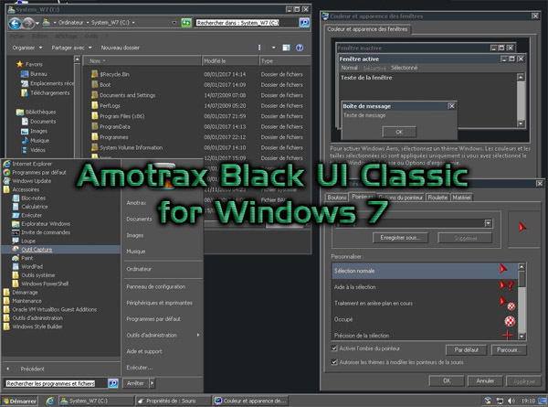 Amotrax Black UI Classic for win7 theme