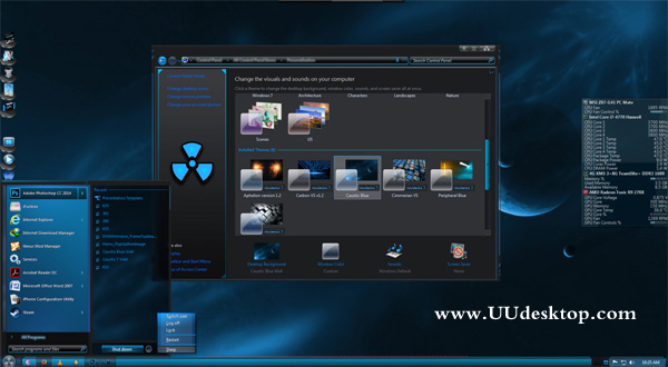 Caustic Blue for Windows 7 free download