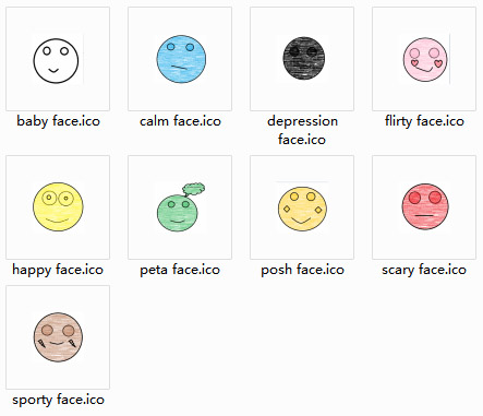 Sketch faces Icons