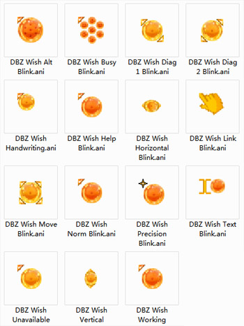 DBZ Wish Blink Mouse Cursors