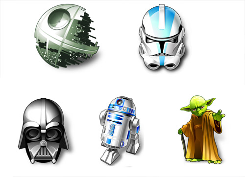 Star Wars 5 PNG ICONS
