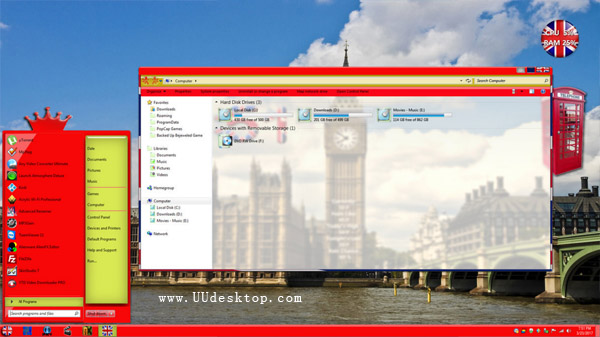 London Windowblinds skin desktop theme