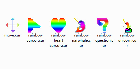 random rainbow pack Mouse Cursors