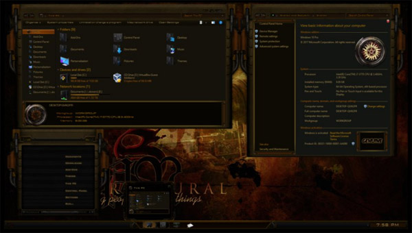 Supernatural Dual Themes for Windows 10 1703 RS2