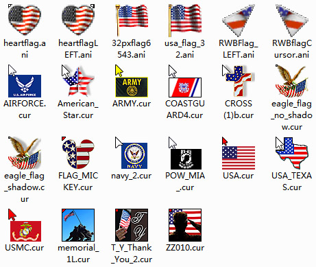 Memorial Day Mouse Cursors