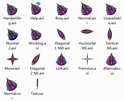 Alien (Purple) Mouse Cursors