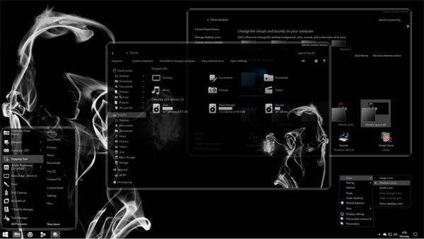 Ghostly-greyscale for Windows 10 Creators Update