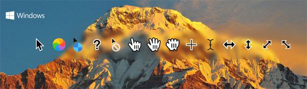 macOS Sierra cursors for Windows