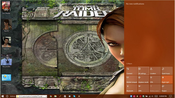 Raider Legend for windows 10 themes
