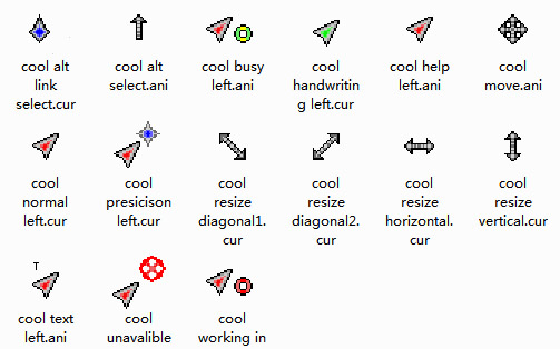 Left Handed Cool cursors for windows 7