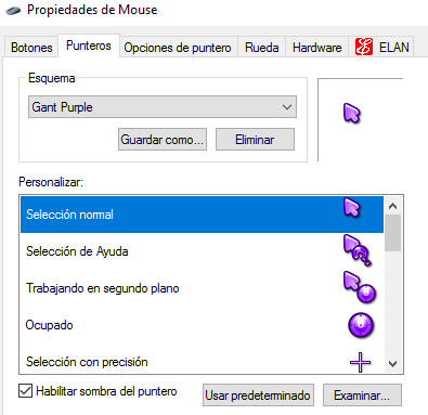 Gant Purple for mouse pointers free download