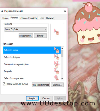 Cupcake mouse pointers DOWNLOAD
