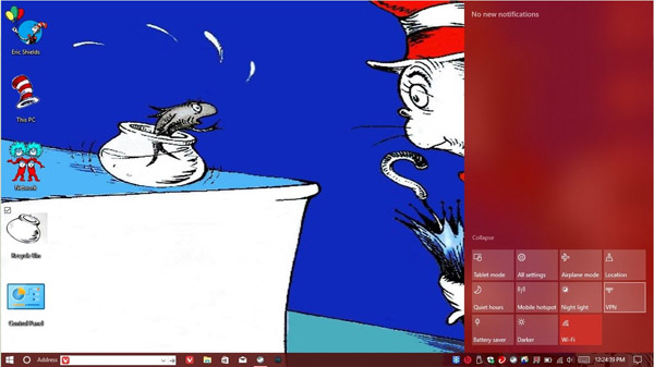 Cat in the Hat for windows 10 desktop themes