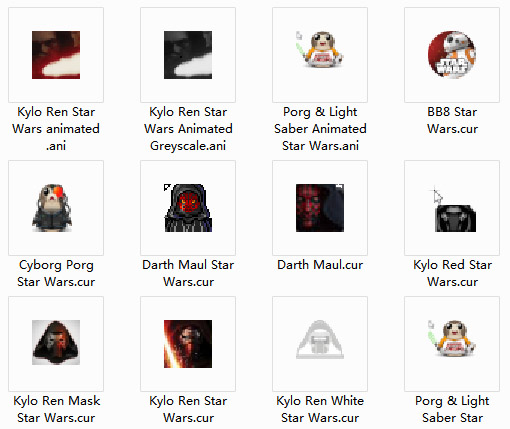 Star Wars Collection Mouse Cursors