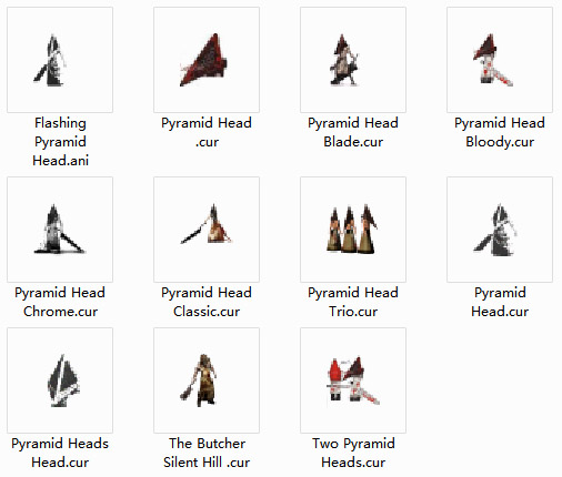 Pyramid Head Collection Mouse Cursors