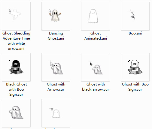 Ghostly Collection Mouse Cursors
