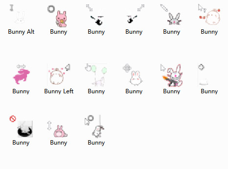 FREE Silly Rabbit computer mouse pointer download