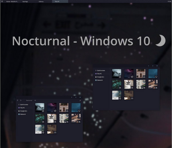 Nocturnal W10 for windows 10 desktop themes
