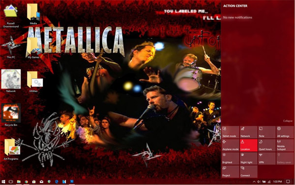 Windows 98 to 10 Theme - Metallica