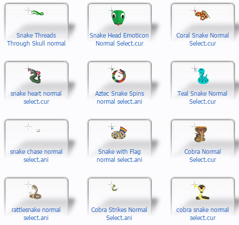 Snake Mouse Cursors