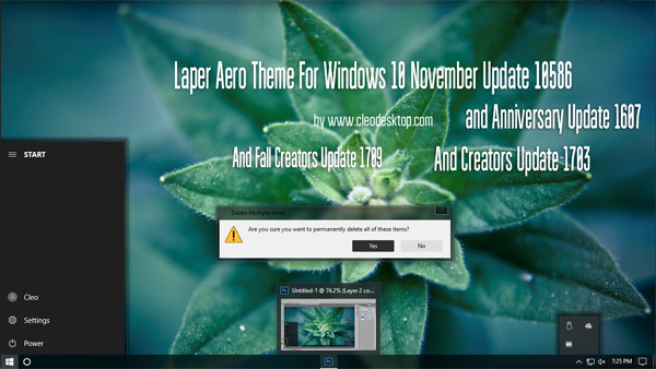 Laper Aero Theme Win10 Fall Creators