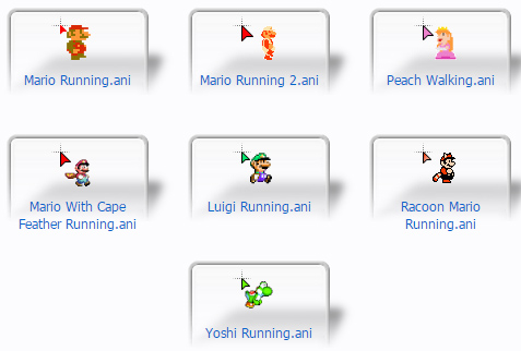 Mario Running Mouse Cursors
