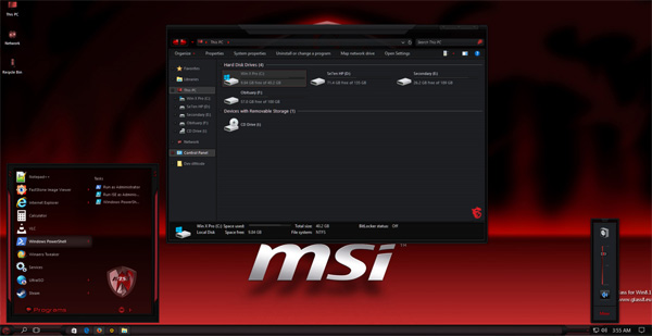 MSI Gaming RS3-RS2 for windows 10 themes