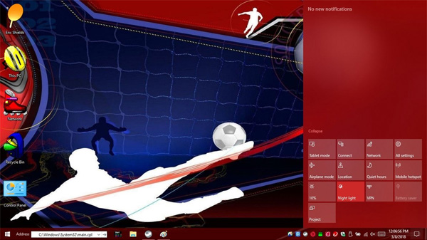 Sports 2.0 for windows 10 themes
